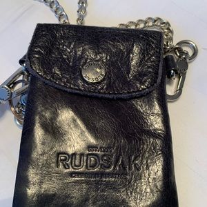 Mini Rudsak crossbody with silver chain s…